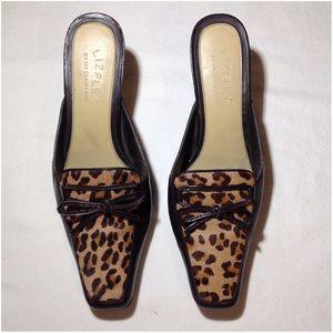 Women's Leather Lizflex By Liz Claiborne Mule Shoe